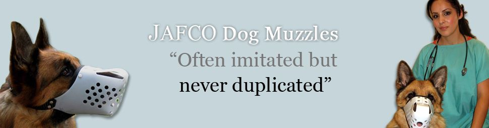 JAFCO Dog Muzzles, ideal for bigint or chewing problems, dog trainers, veterinarians, military and police K9 training